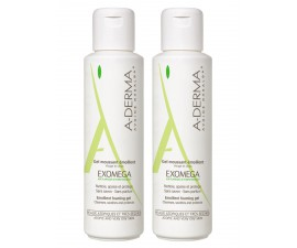 Aderma Exomega Gel Moussant Emollient Lot de 2 x 500 ml