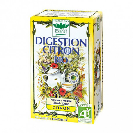 ROMON NATURE Tisane Bio Digestion Citron Bio - 20 sachets