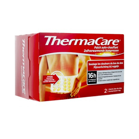THERMACARE Patch auto-chauffant Bas du Dos 2 Patchs