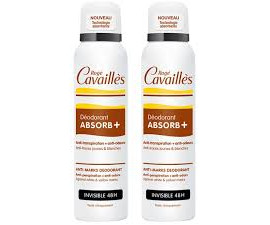 ROGE CAVAILLES Déodorant Absorb+ 2*150ml INVISIBLE 48H