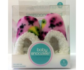 Chaussons Baby snoozies - ROSE FONCE Coccinelles - taille S