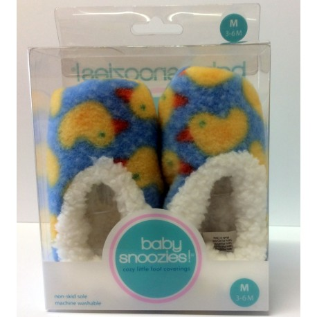 Chaussons Baby snoozies - BLEU Canards - taille M
