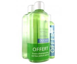 Ducray Shampooing Extra-Doux Lot de 2 x 400 ml + Shampooing 200 ml Offert