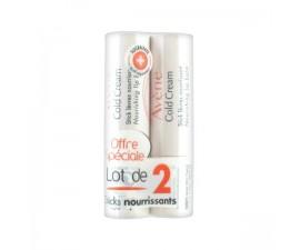 AVENE Cold Cream Stick Lèvres Lot de 2 x 4g