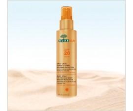 Spray lacté visage et corps moyenne protection SPF20