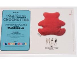 Les Chochottes Le nounours coussin emplâtre enfant à base de grains de lin
