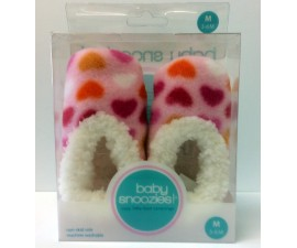 Chaussons Baby snoozies - ROSE CLAIR Coeurs - taille M
